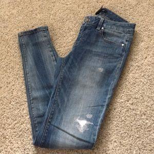 White House Black Market distressed jean